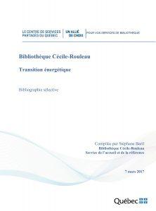 Bibliographie sélective sur la transition énergétique