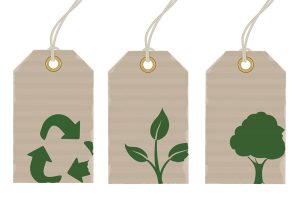 Vector illustration Set of eco product price tags