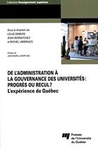 De l'administration à la gouvernance des universités